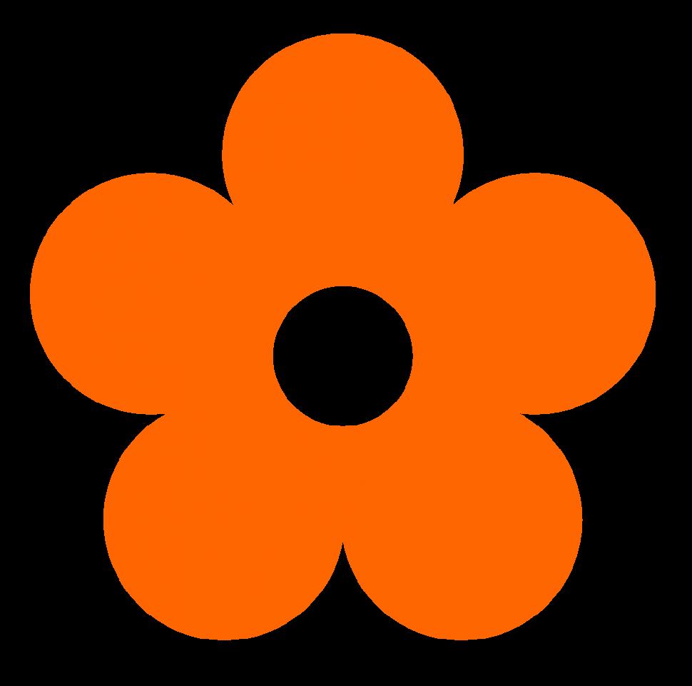 970x961 Orange Flower Clipart Little Flower