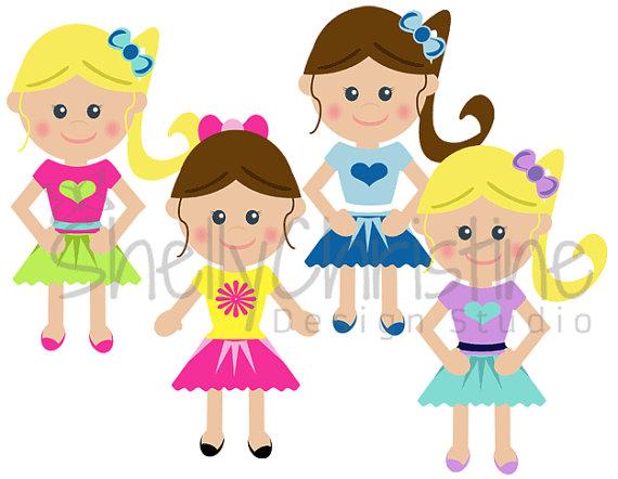 570x442 Little Girl School Girl Clip Art Cute Kids Clipart Set Of 4