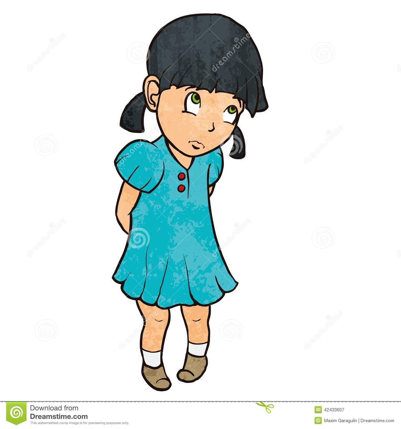 1300x1390 Little Girl Cartoon Clipart