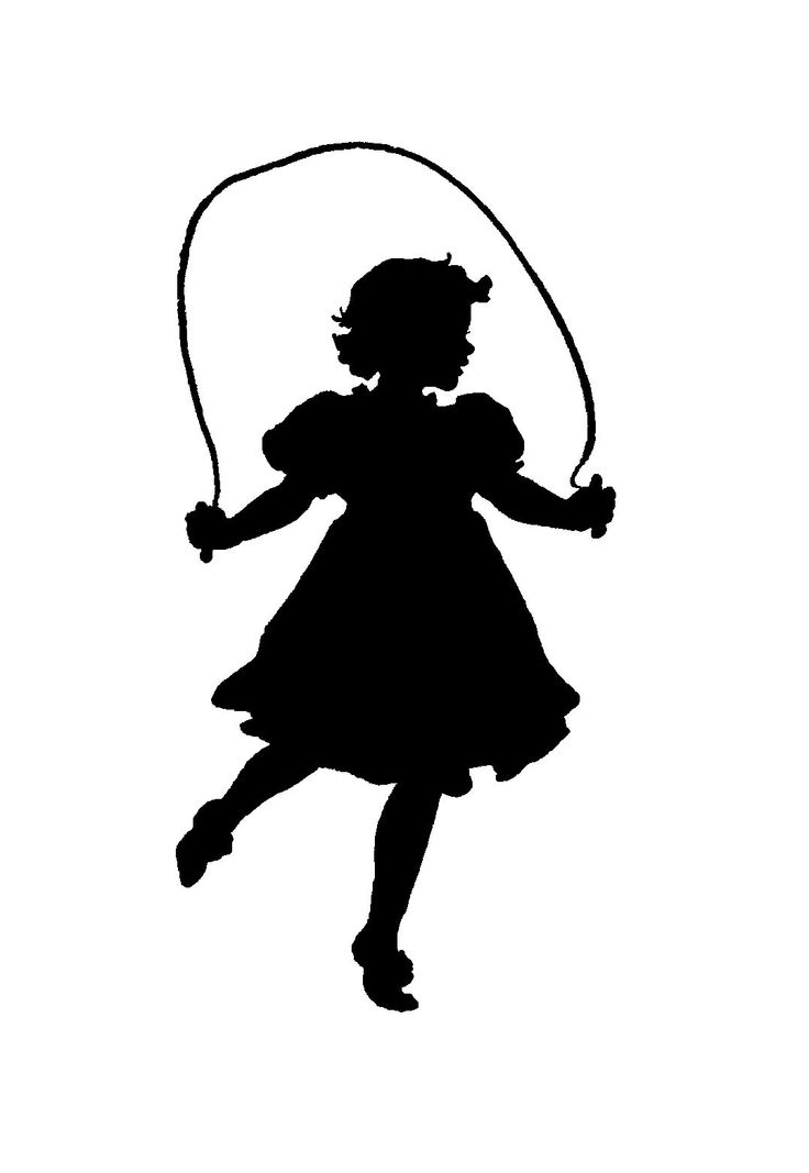 Little Girl Silhouette Clipart