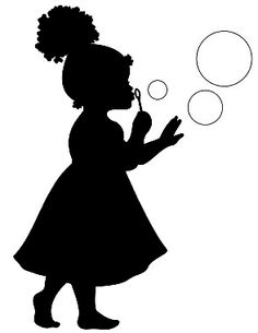 236x305 Cute Little Girl Blowing Bubbles Blowing Bubbles, Vector Art