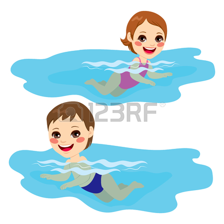 450x450 Cheerful And Active Little Kid Swimming Happy On Water Royalty