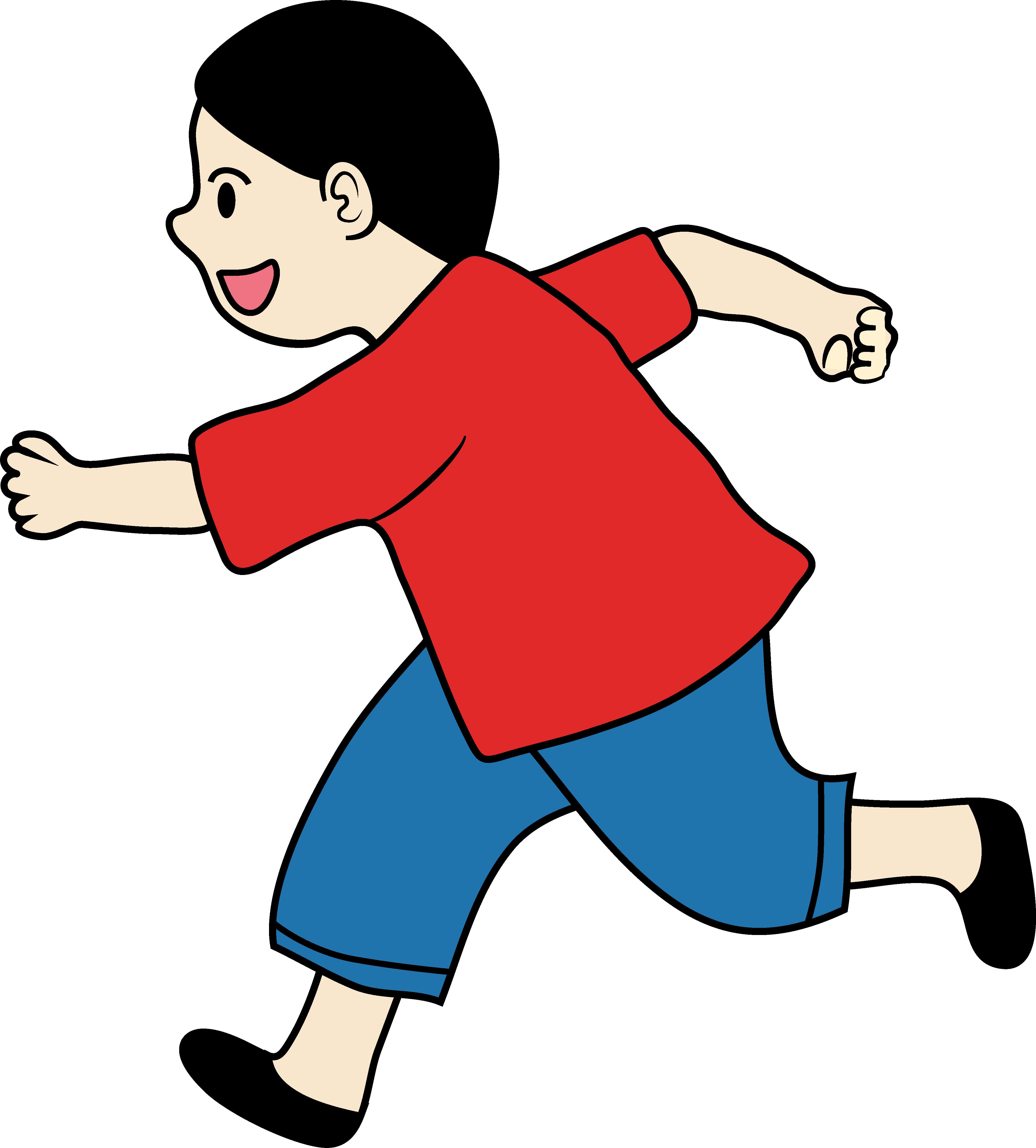 4209x4662 Clipart Of A Little Boy Running