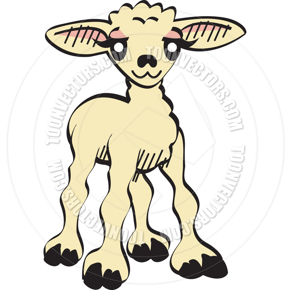 940x940 Cartoon Lamb Vector Illustration By Clip Art Guy Toon Vectors