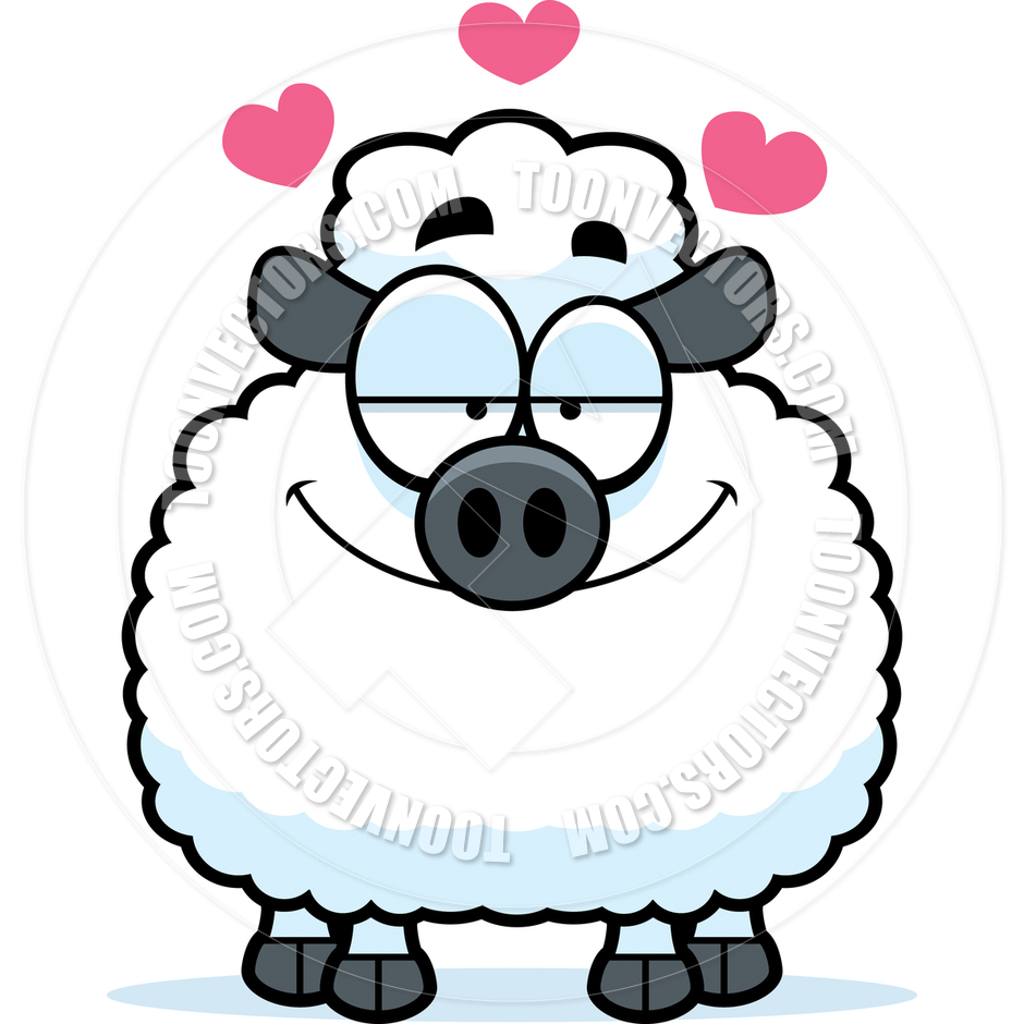 940x940 Cartoon Little Lamb In Love By Cory Thoman Toon Vectors Eps