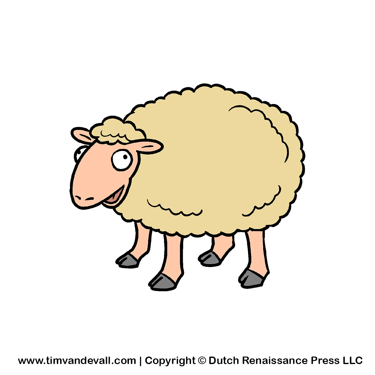 1200x1200 Cartoon Sheep On The Meadow Vector Clipart Free Clip Art Images