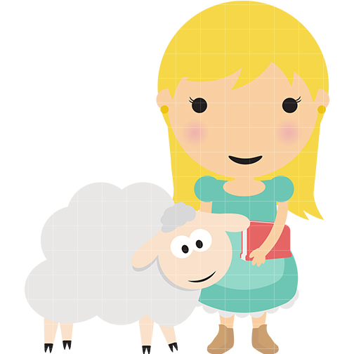 504x504 Mary Little Lamb Clipart