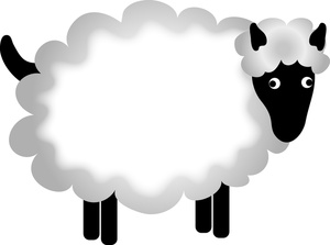 300x223 Sheep Clip Art 4