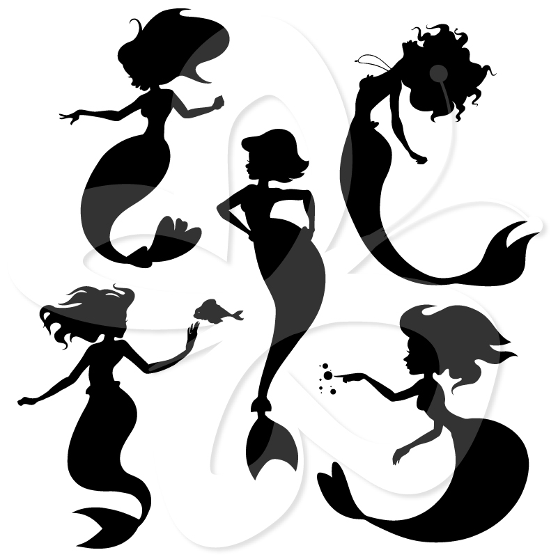 801x800 Mermaid Silhouette Clipart