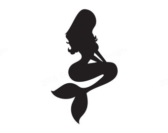 340x270 Mermaid Black And White 0 Ideas About Mermaid Silhouette On Little
