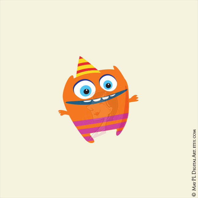 648x648 Little Monster Birthday Clipart Cute Monsters Party Silly Funny