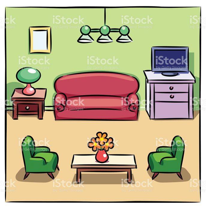 687x687 Living Room White Living Room Clip Art Vector Images