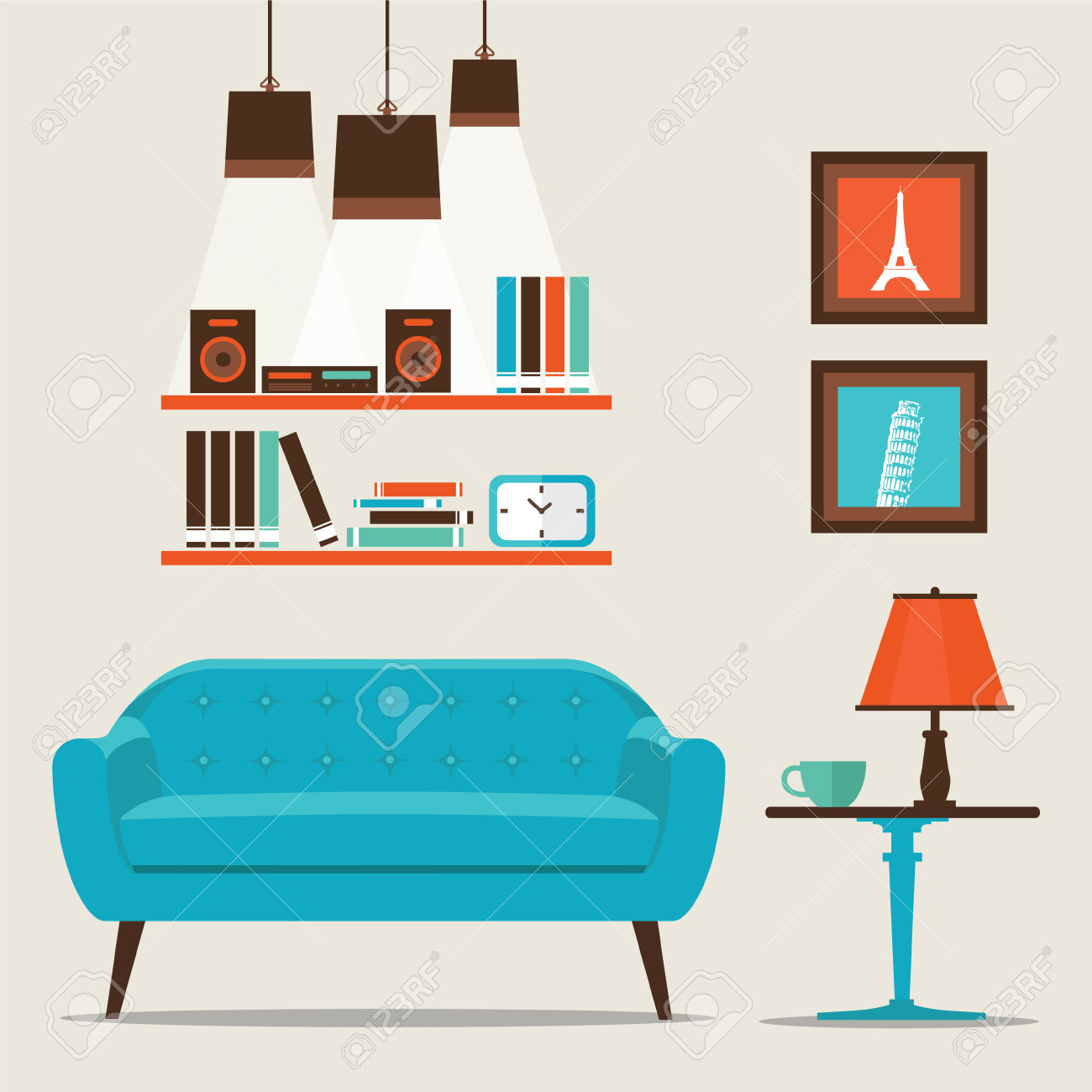 Living Room Clipart | Free download on ClipArtMag