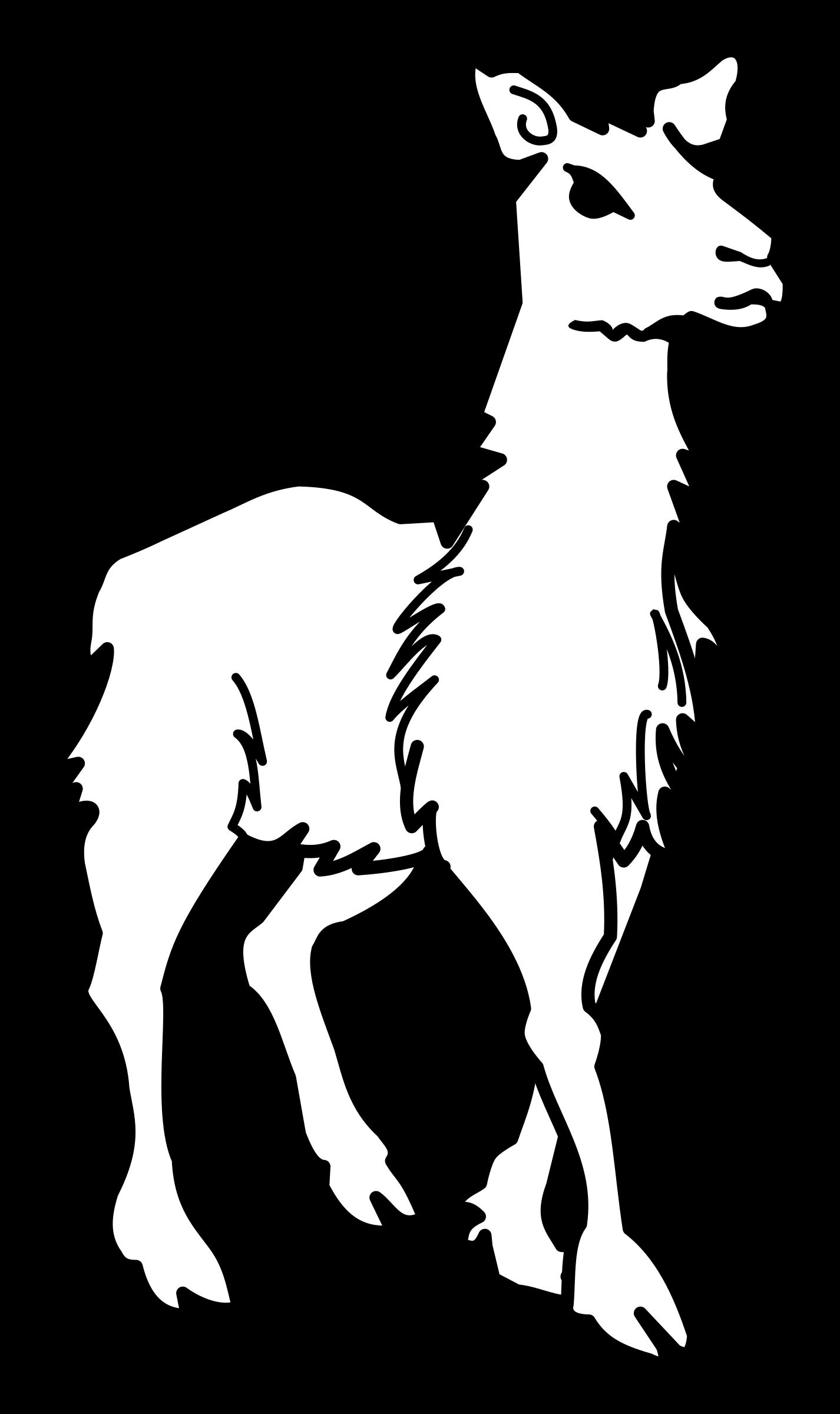 1426x2400 Clipart Llama Lineart