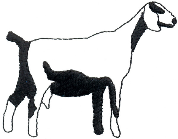 600x467 Goat Outline Embroidery Designs, Machine Embroidery Designs