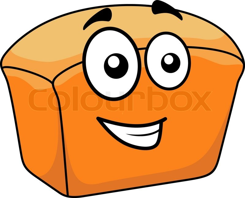 800x648 Cartoon Loaf Of Freshly Baked Gourmet Plaited Bread With Poppy