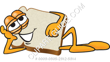 350x198 Illustration Of Cartoon Clipart Bread Laying Down