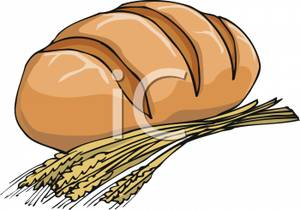 300x210 Loaf Of Bread And Wheat Clipart Picture