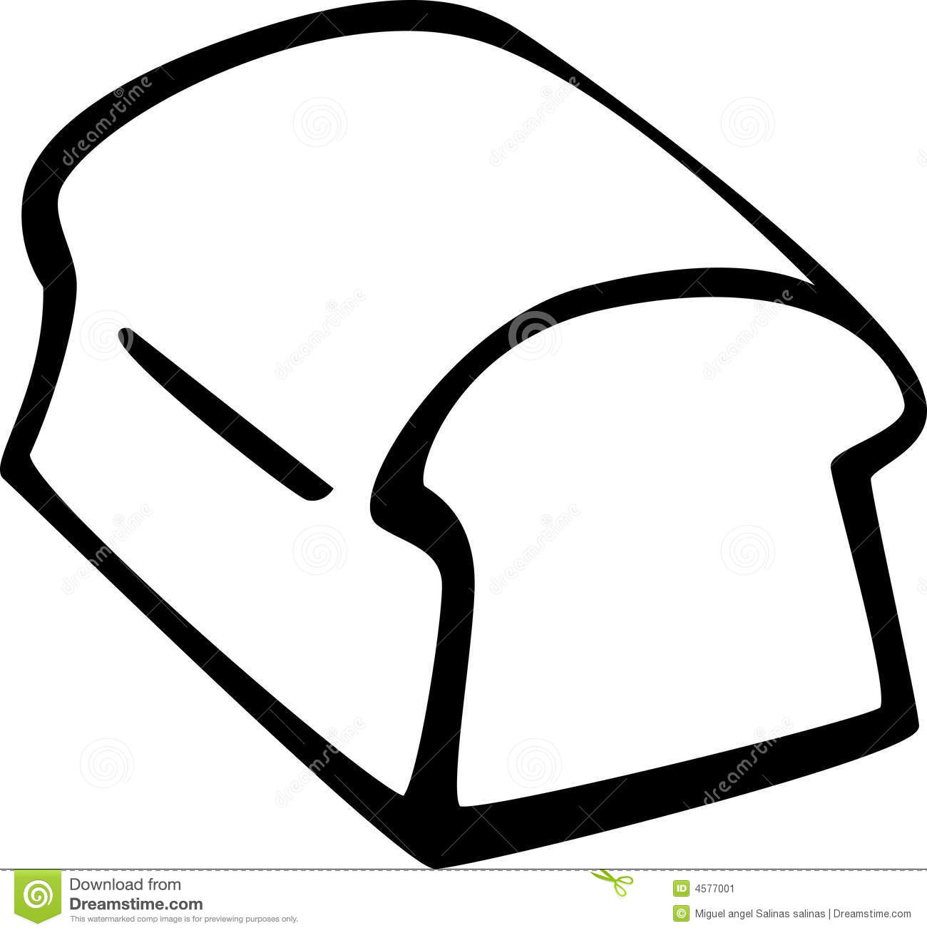 1300x1308 Bread Clipart Outline