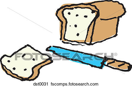 450x298 Clipart Of A Knife Cutting A Loaf Of Bread Dst0031