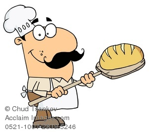 300x266 A Baker With A Loaf Of Bread Clipart Amp Stock Photography Acclaim