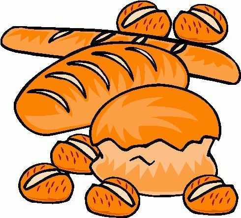 490x442 Bread Clipart Wallpaper