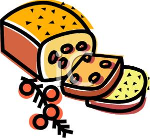 300x277 Free Clipart Image A Sliced Loaf Of Cranberry Bread