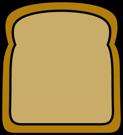 432x471 Slice Of Bread Clipart