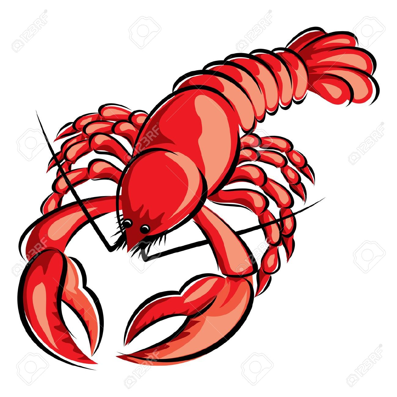 1300x1300 Crawfish Clipart Lobster Dinner