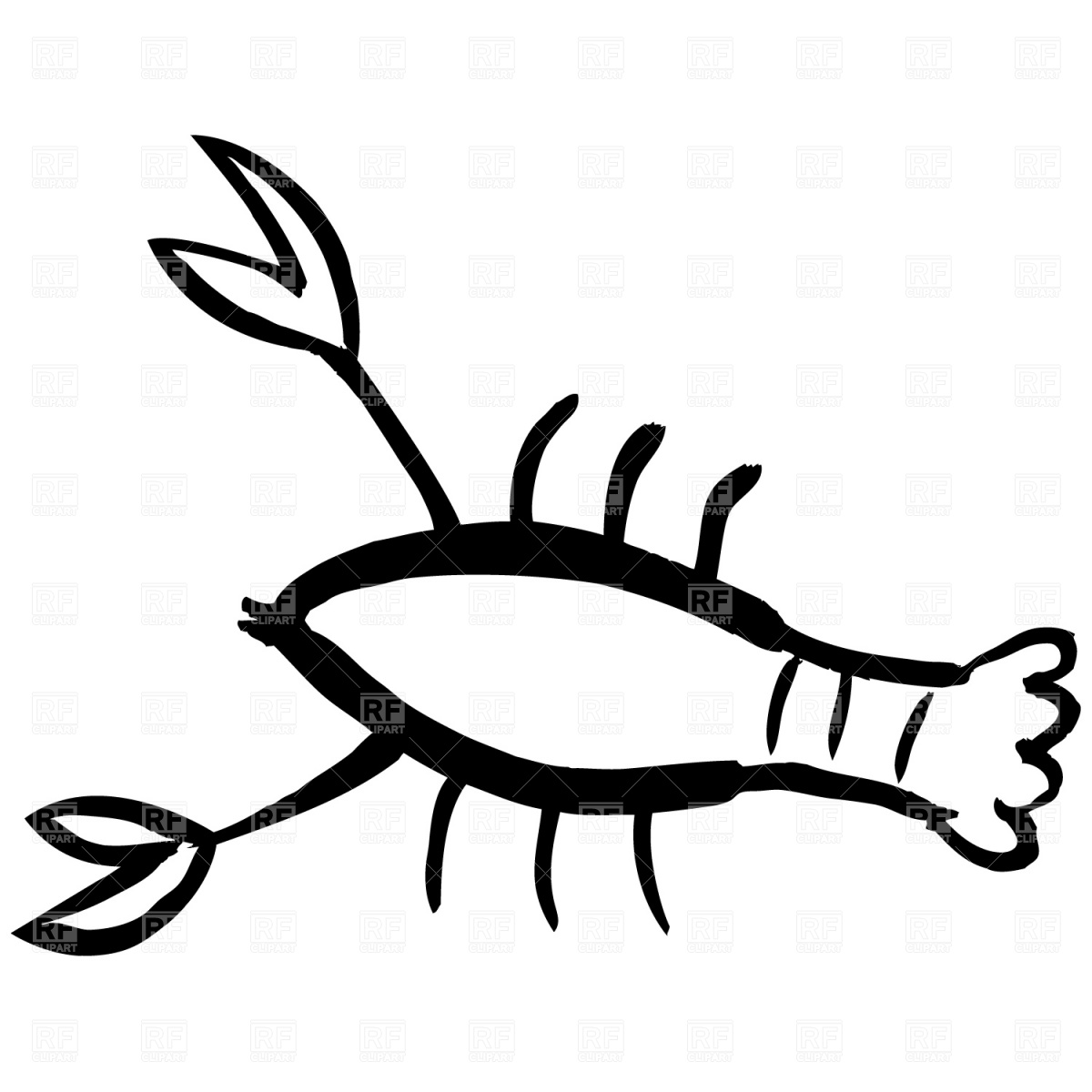 1200x1200 Lobster Outline Free Clipart Images 2