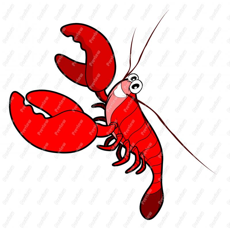 800x798 Ocean Sea Lobster Character Clip Art