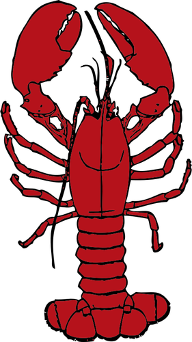 281x500 Vector Drawing Of Lobster Public Domain Vectors