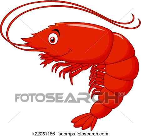 450x436 Clip Art Of Cute Shrimp Cartoon K22051166