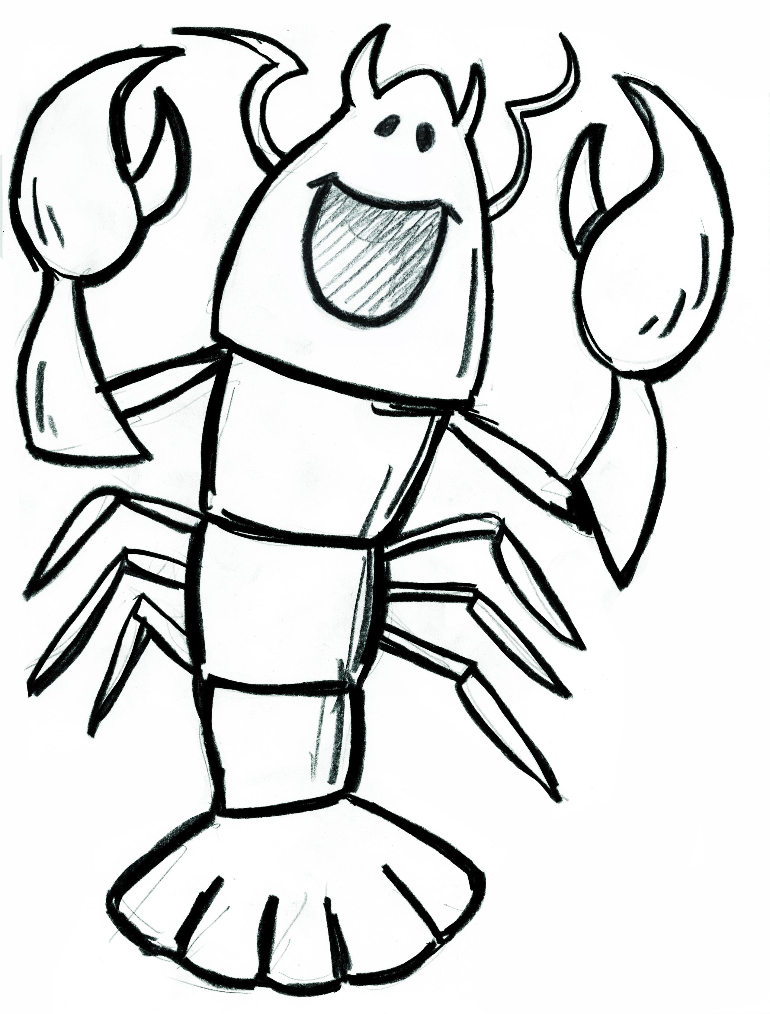 2550x3357 Drawn Lobster Funny Cartoon
