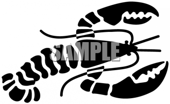 350x215 Royalty Free Lobster Clip Art, Food Clipart