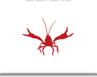 340x270 Crawfish Clipart Etsy