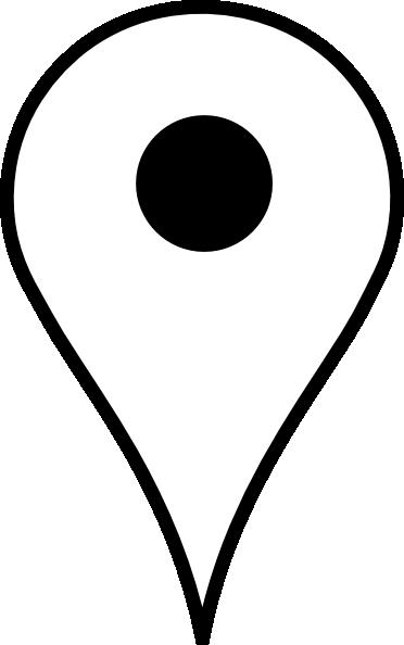 372x594 Location Pin White Clip Art