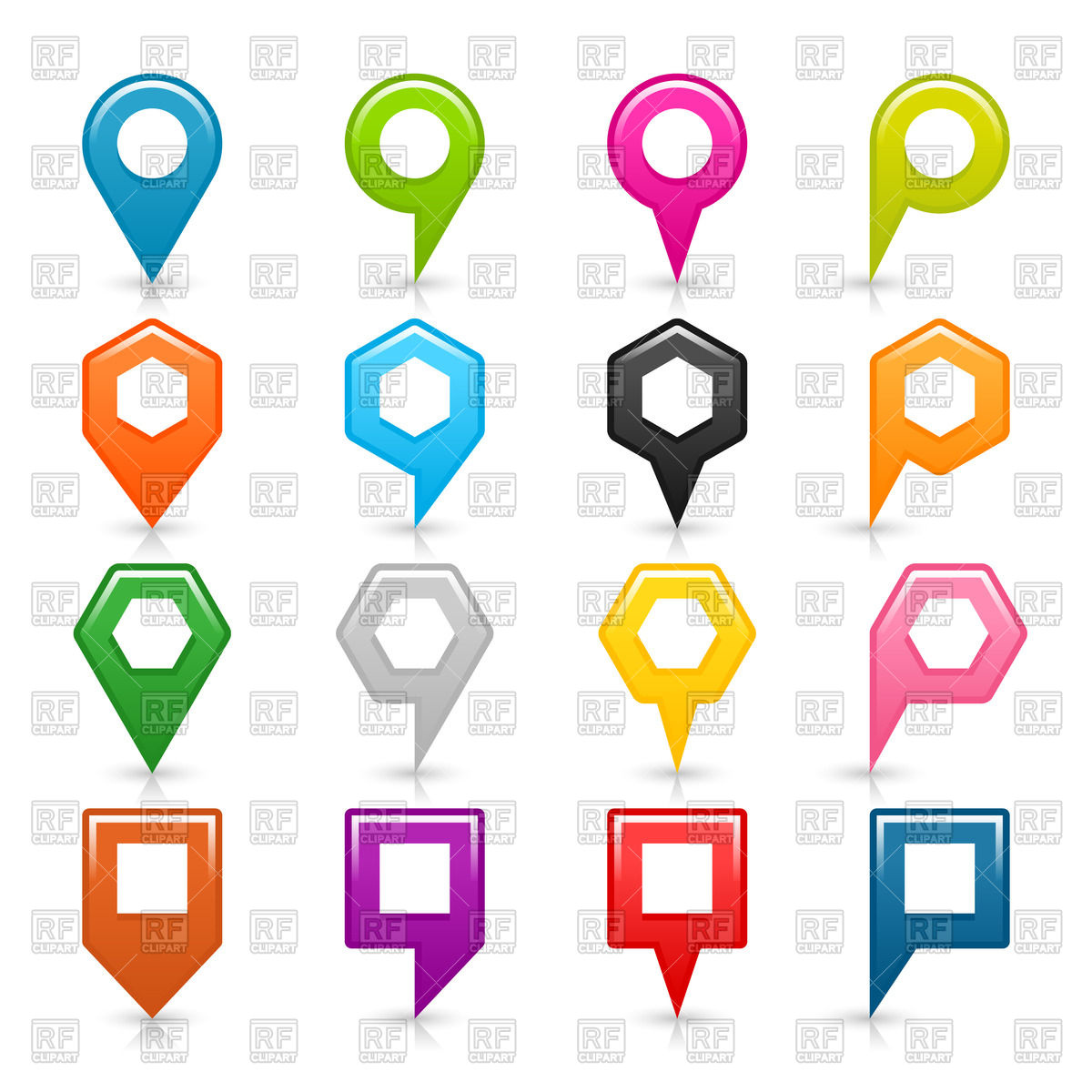 1200x1200 Motley Location Markers Collection