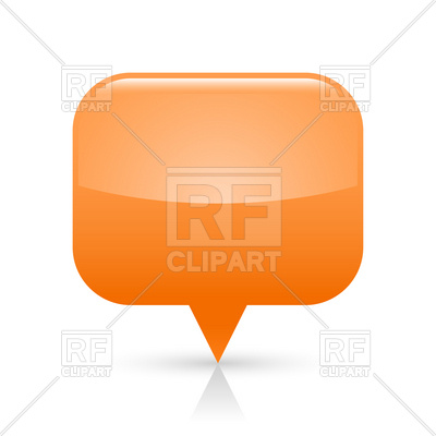 400x400 Orange Square Map Pin, Location Marker Royalty Free Vector Clip