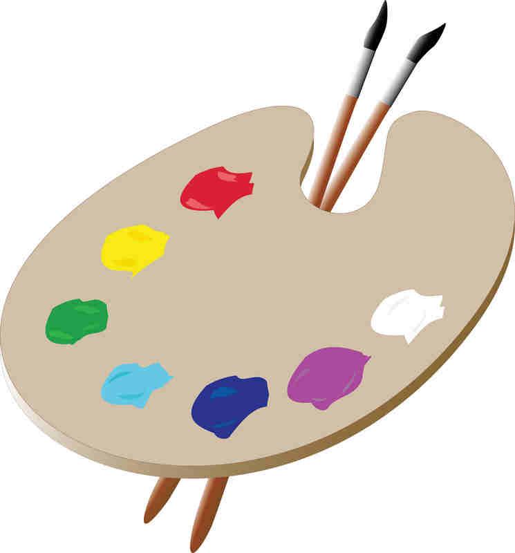 745x800 Palette Clipart Art Pallet