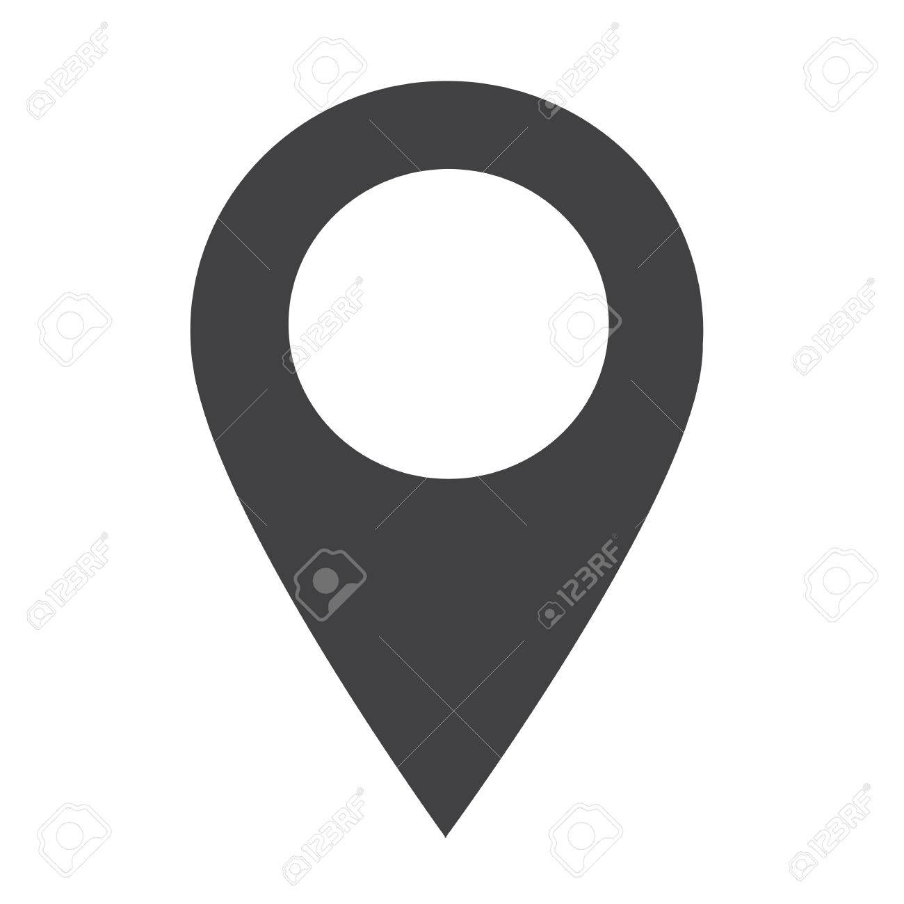 1300x1300 Gps Location Map Pointer Icon Royalty Free Cliparts, Vectors,