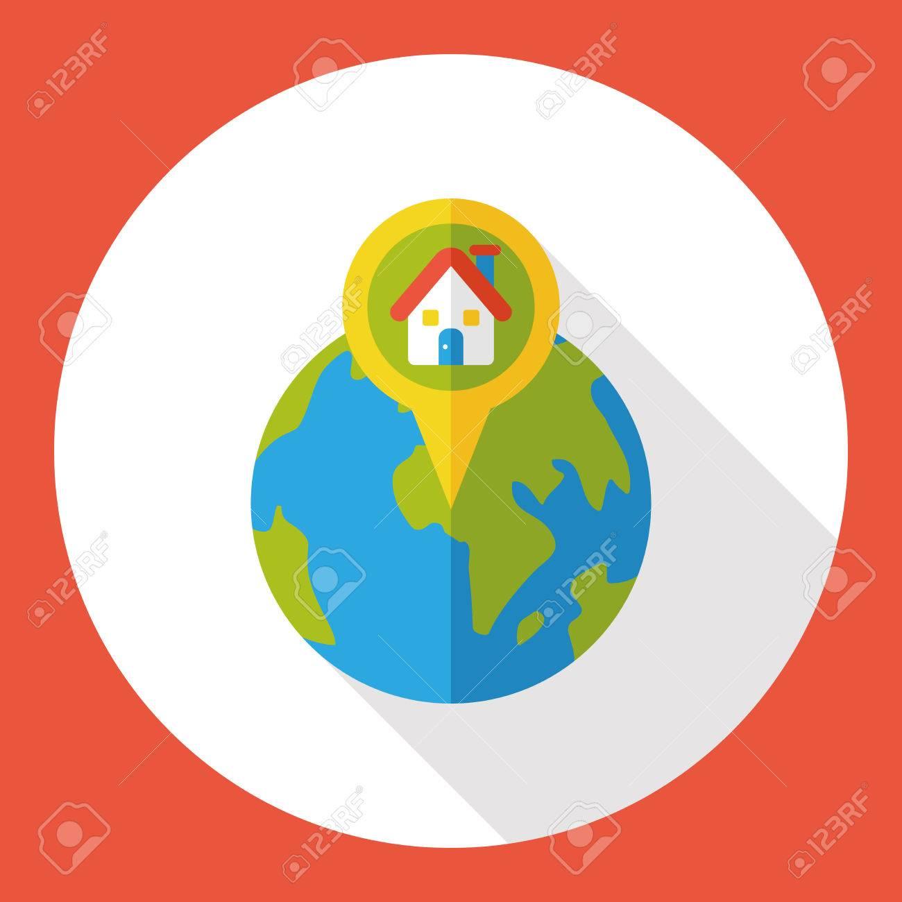 1300x1300 Internet World Location Flat Icon Royalty Free Cliparts, Vectors