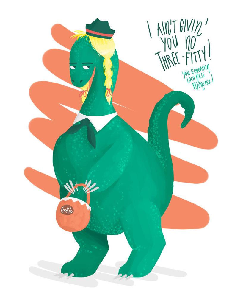 780x1024 Loch Ness Monster The Little Girl Scout By Zero Minus