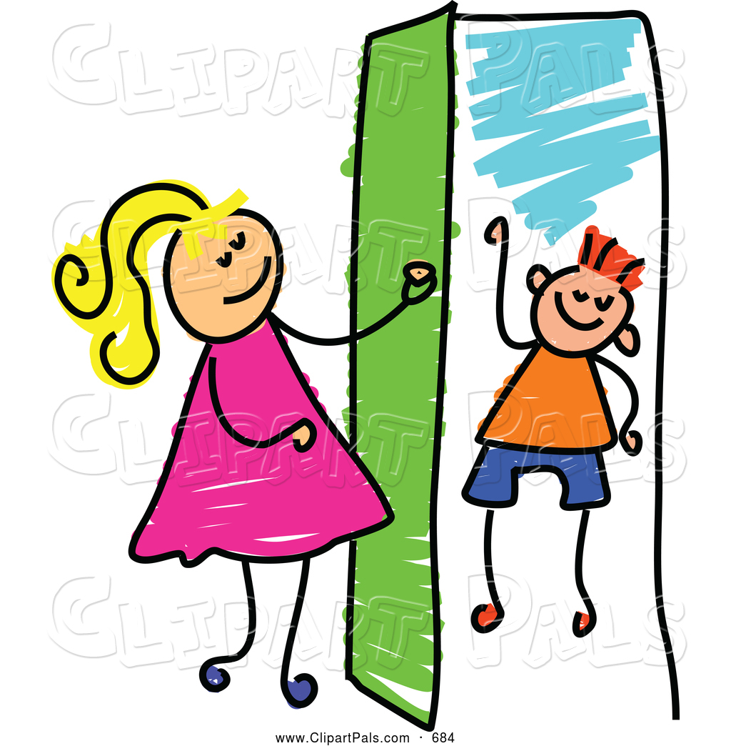1024x1044 Pal Clipart Of A Cheerful Girl Opening A Door To A Boy By Prawny