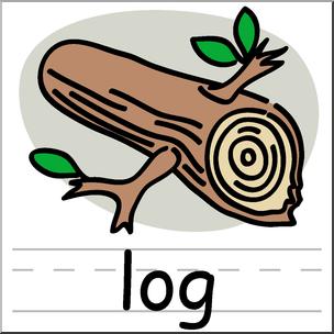 304x304 Clip Art Basic Words Log Color Labeled I Abcteach
