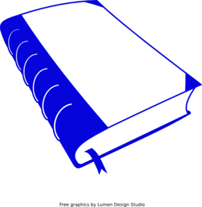 291x299 Dark Blue Book Clip Art