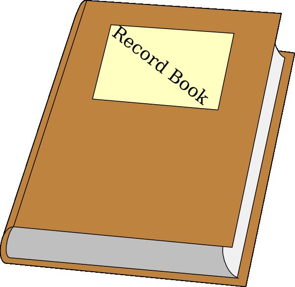 600x584 Record Book Clip Art
