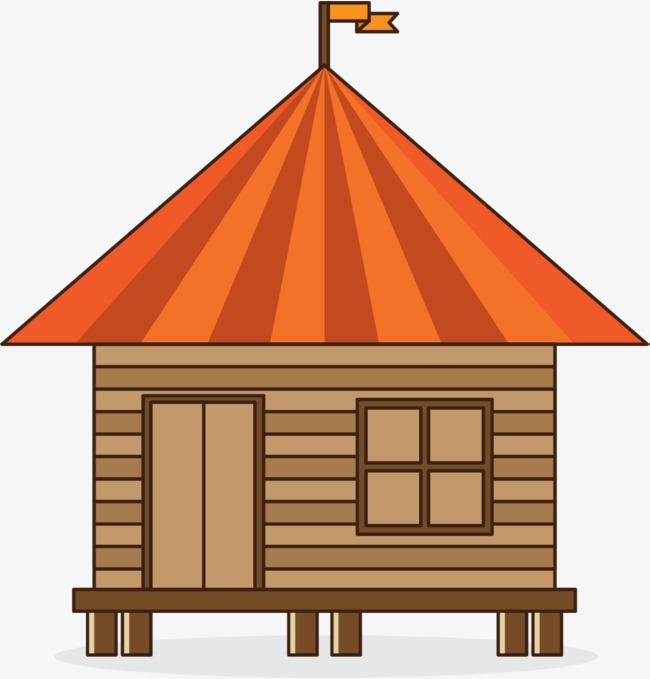 650x679 Cartoon Rojo Techo Casa, Log Cabin, Casa De La Historieta, Red