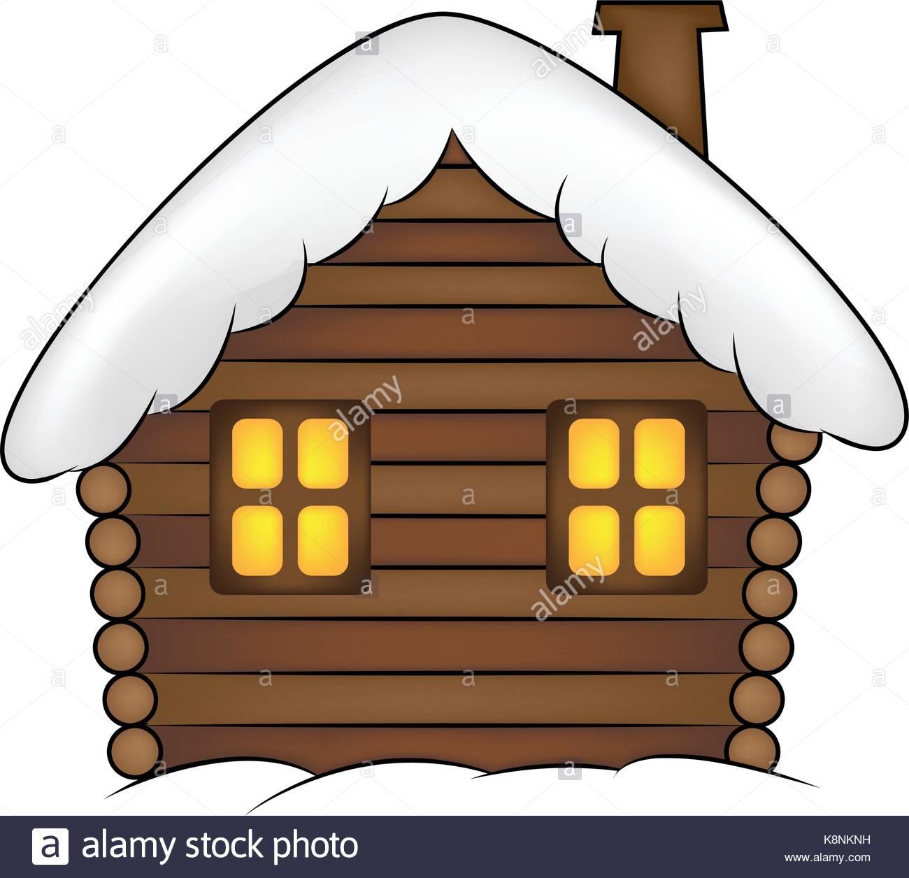 1300x1256 House With Snow Cartoon Illustration. Winter Snowy Christmas Home
