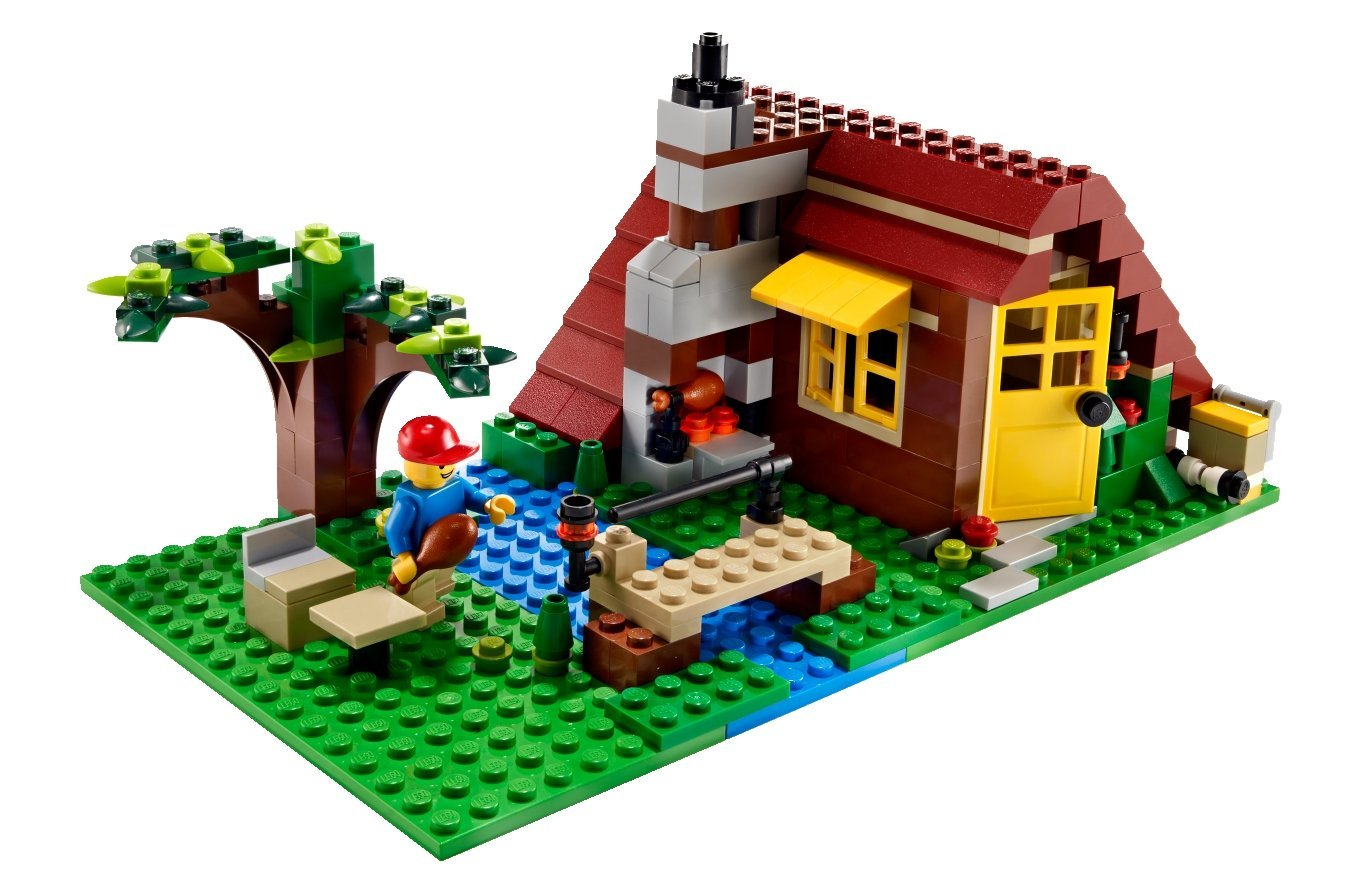 1350x890 Lego Creator 5766 Log Cabin Amazon.co.uk Toys Amp Games